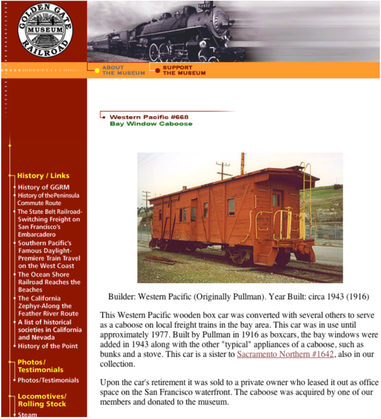 2006 GGRM collection webpage on WP668